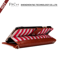 new toys 2017 luxury flip leather detachable wallet case cover for iphone 6 case zebra-stripe hand wrap folio standing case