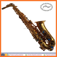 High grade gold lacquer alto saxophone,musical instrument