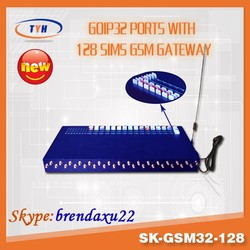 cheap sk-gsm32-128 32 port gsm voip gateway free international calls