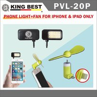 KING BEST Led flash light mobile phone selfie flash fill light for mobile cell phone + USB mini Fan for iPhone & ipad only Kit
