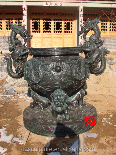 Bronze chinese dragon vase for wedding decoration