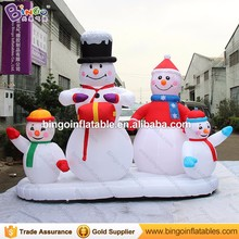 Merry Christmas inflatable snowman family for Lawn yard decoration