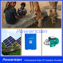 Powerician 750W AC Solar Pumping System For Water Supply Flow 3CBM/h Head 49m Solar Watering System Kits NO. AK3-49-750