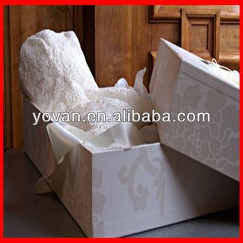 Decorative cardboard wedding dress box with lid buy for Acid free cardboard box for wedding dress