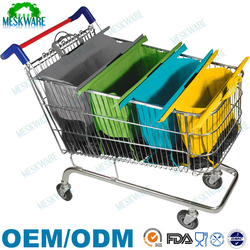 Reusable colorful trolley bags supermarket, grocery trolley bag, trolley shopping bag
