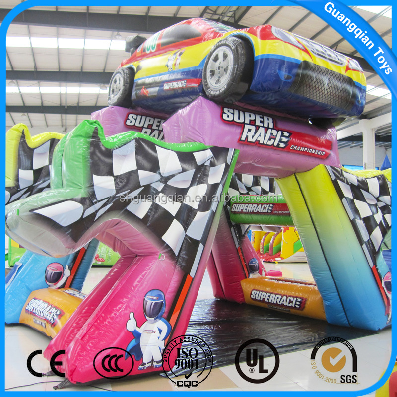 Guangqian Hot Selling Advertising Inflatable Cartoon Super Race Cars Model