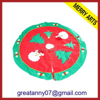 High quality fabric knit wholesale Santa Claus felt christmas tree skirt cheap