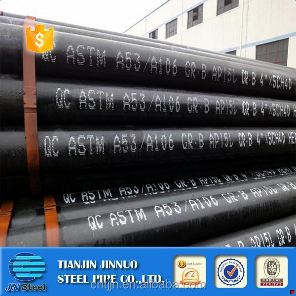 Brand new house building material steel pipe seamless steel pipe with black coating bevelled ends and caps