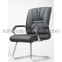 ergonomic executive armrest leather office chairs without wheels