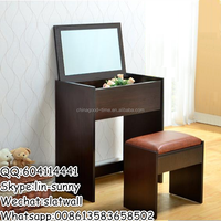 Cheap wooden dressing table and stool