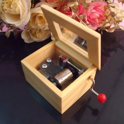 Mini Hand Crank Mechanical Movement Music Box For Crafts