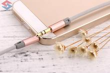 Lovely pink Aux Audio Cable 3.5mm AUX audio cables male to male Stereo audio Cable for MP3