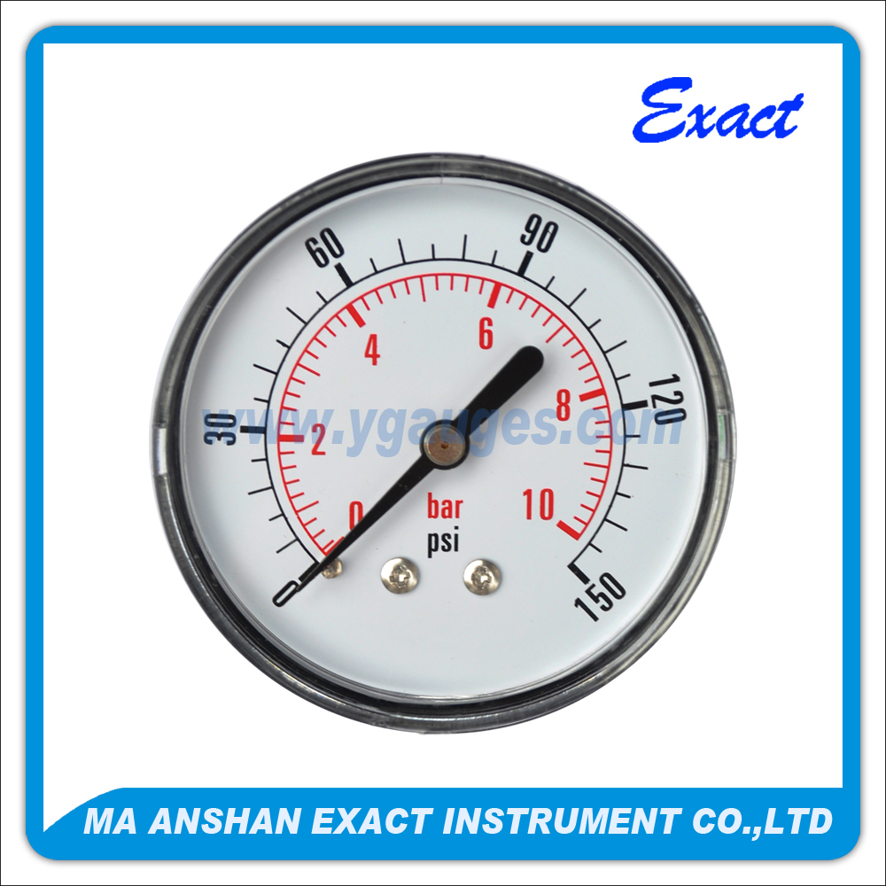 Good package Wika type high quality liquid pressure gauge