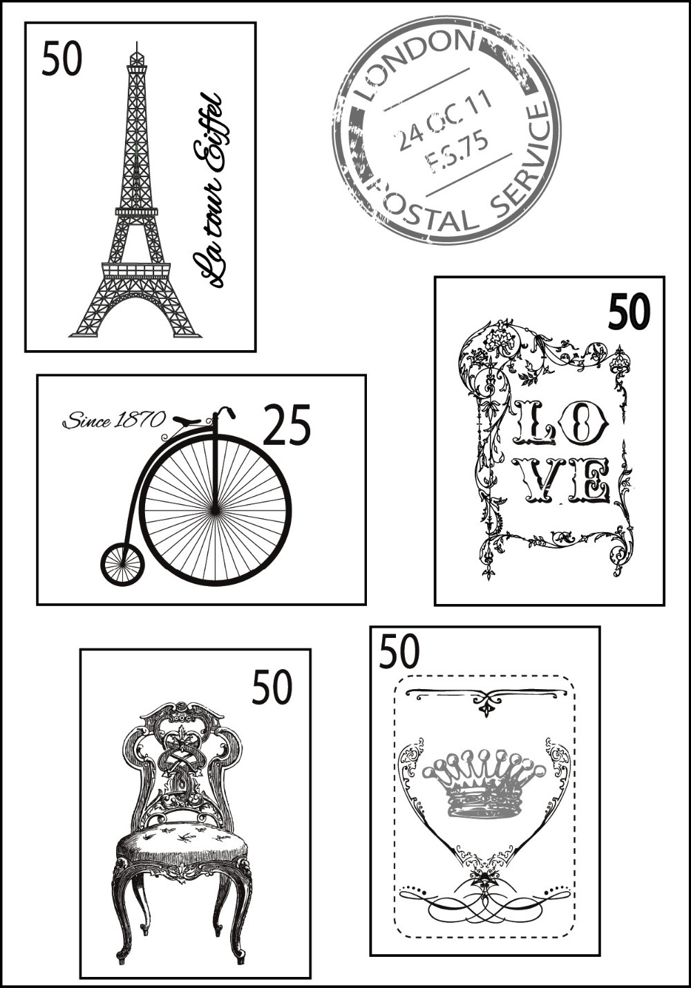 2017 hot sale for scrapbooking DIY clear stamp