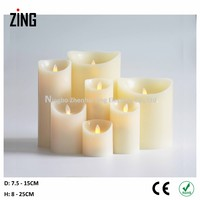 concrete candle Real Wax Flameless candle light led candle in jakarta (WM-101)