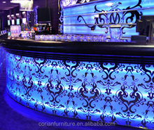 amazing LED water bubble <strong>bar</strong> counter front desk counter