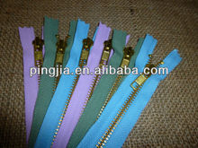 6 x Lilac / Green / Blue / Gold Metal 18Cm YKK Closed End Zips