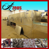 Continuous Microwave Drying Machine for Beef Jerky/Fish Drying Machine/Shrimp Dryer and Sterilizer