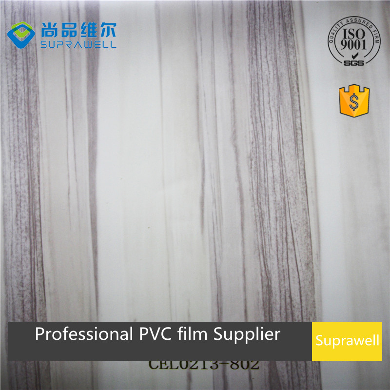 Big line zebra wood grain PVC lamination film for interior furniture