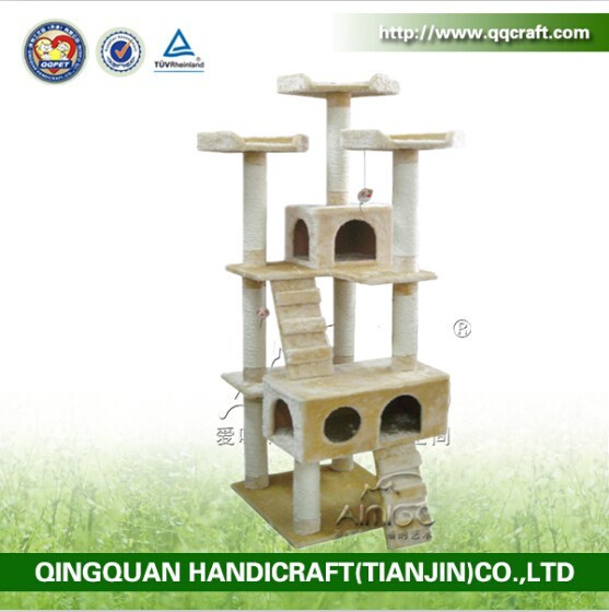 QQ Catree Factory Cat Scratch Tree Post Cheap Large Dog And Cat House
