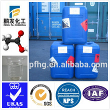 glacial acetic acid indystry grade/food grade used in producing of vinyl acetate,polyving akohol,phthalic acid,acetic ester,etc