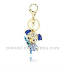 Fashion Keyring Metal with Rhinestone Koala KC11171