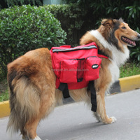 Premium quality newly design folding dog saddle transport bag hdpe printed doggie shaped pet bags
