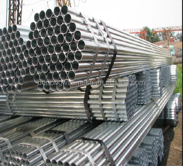 Q195 1.5 inch fencing mild carbon round welded steel pipe/steel tube