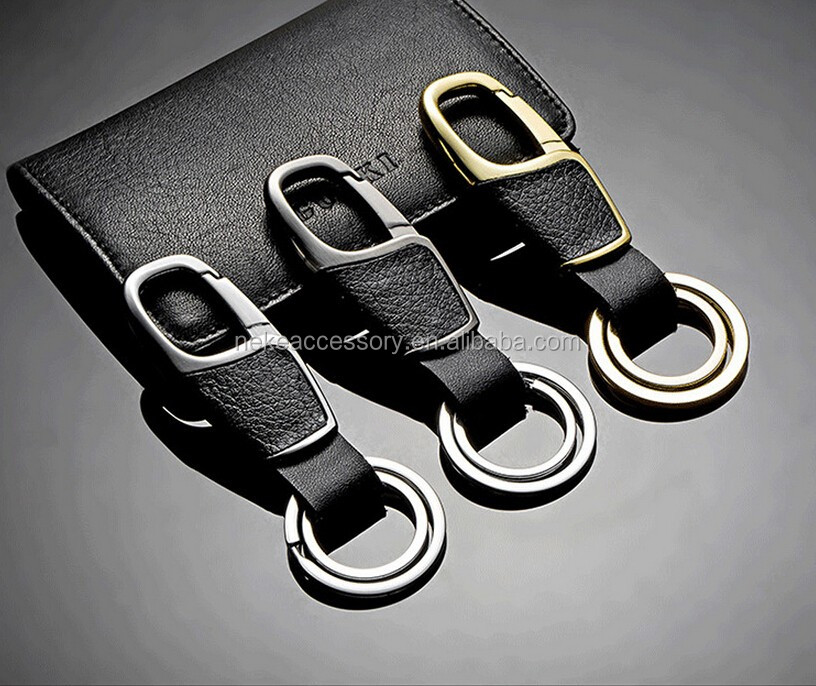 hot selling custom male leather key chain keychain key ring for man