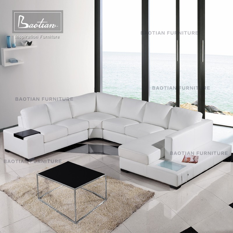 2016 living room products Sectional <strong>sofa</strong> with LED