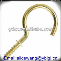 China custom stainless steel/carbon steel cup hooks with thread,thread hooks