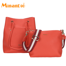 MINANDIO latest design fashion real pu leather handbag tendy women handbag for office ladies
