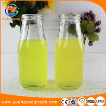 8oz color full logo printing glass milk bottle with screw cap
