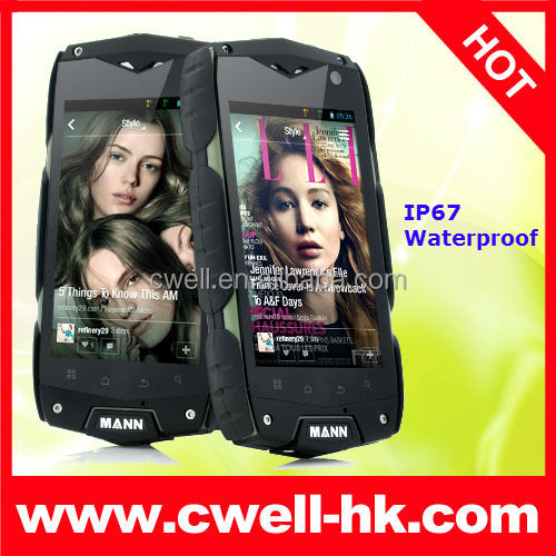 Mann zug 3 big discount 4.0 Inch Snapdragon Quad Core Dual SIM card WIFI GPS 3G IP67 Waterproof android mobile phone