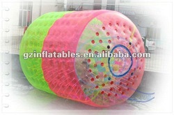 2016(QiLing) colorful hot-sale inflatable water roller ball