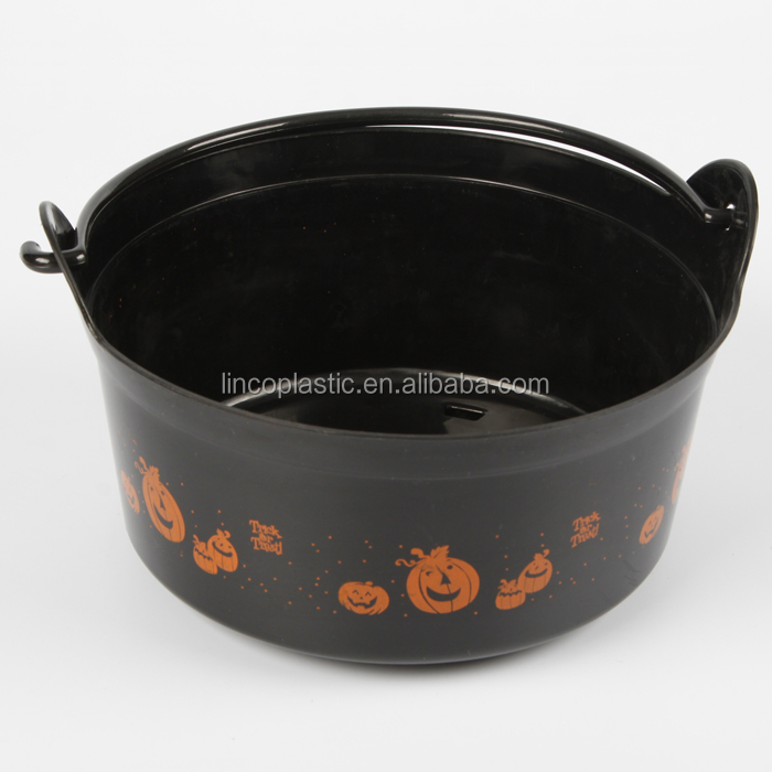 Halloween Textured Cauldron with Handle
