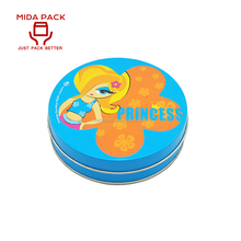 Wholesale promotional custom printed round small metal cosmetic case