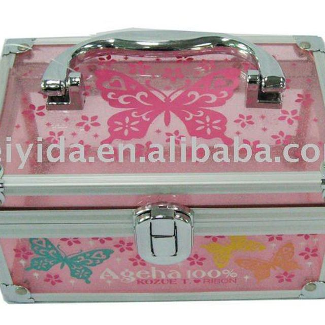 Color Acrylic cosmetic case with print logo