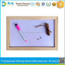wood border hot whiteboard with marker pen for kids