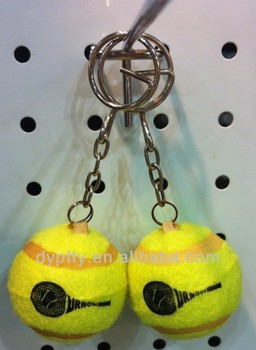 Promotional rubber Tennis Ball Keychain 40mm manufacture