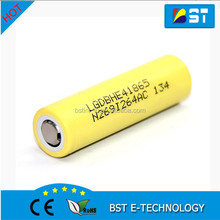 Authentic LG HE4 35A 3.7v 2500mah 18650 rechargeable battery li-ion polymer battery flat cell 3.7v cylinder lithium ion battery