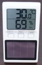 non-mercurial digital thermometer solar powered with memory