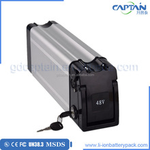 Good price silver fish case li-ion 48v 10ah e-bike battery