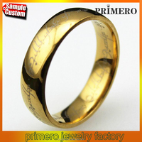 Gold,Silver & Black Color Stainless Steel Ring Lord Of The Rings 3D Carving Fine Jewelry