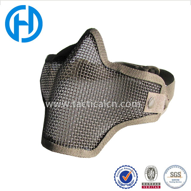 Hot Tactical Equipment Half Face Airsoft Paintball CS Strike Steel Mesh Mask