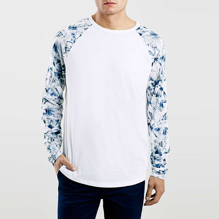 Custom man raglan digital printing floral t shirt buy Custom t shirt digital printing