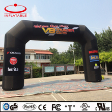 advertising inflatable black car race arch with logo printing