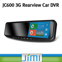 Newest Rearview Mirror Car DVR with Dual Camera Anroid System 5.0 Capacitive Touch Screen FHD 1080P GPS Navigation jc600