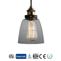2016 New Modern Bell Glass Pendant Lights Industrial Style Pendant Lamp Edison bulbs Lighting hanging Dining room lamps