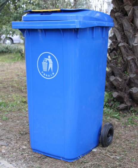 Movable plastic dustbin/plastic waste can/garbage can